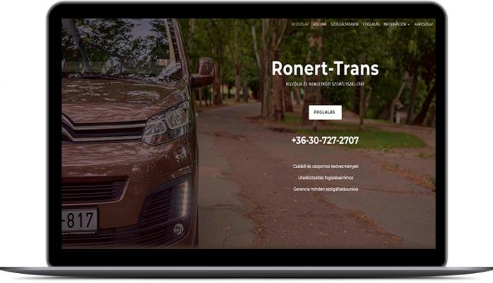 fodorsolutions weboldal készítés, honlapkészítés Facebook hirdetések Google AdWords kampányok - Ronert-Trans Kft.